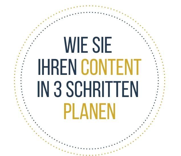 Content-Planung in 3 Schritten