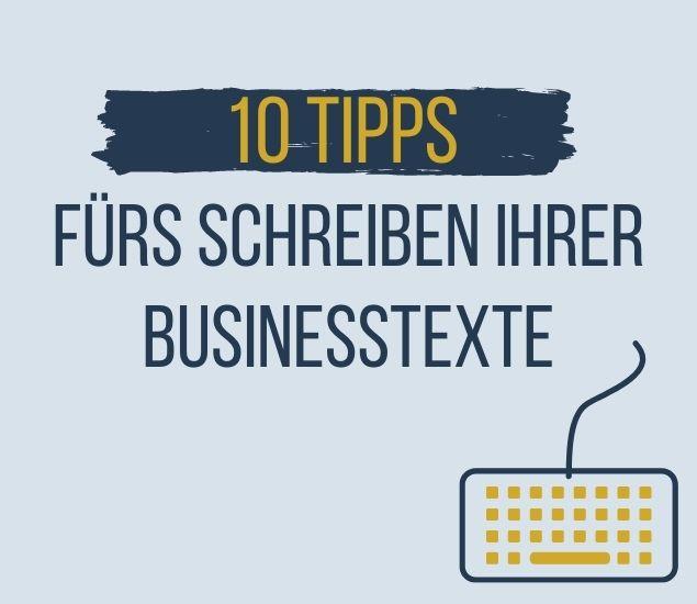 Businesstexte schreiben lassen schreibtipps