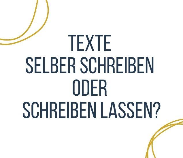 Texte schreiben lassen vom Texter