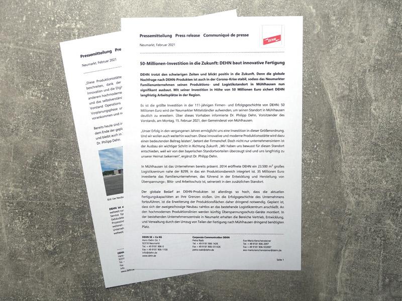 Pressemitteilung Dehn